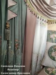 Элитные шторы Итальянский стиль. Элитные тани для штор.